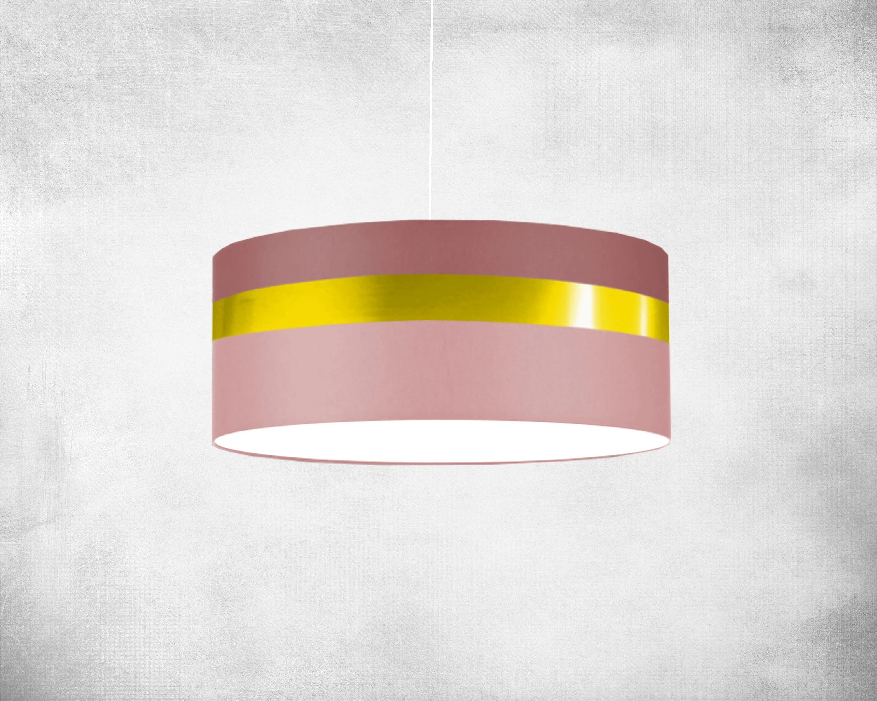 Lichthaus Worpswede Lampshade 60 Cm Gold Stripe Pastel Rose