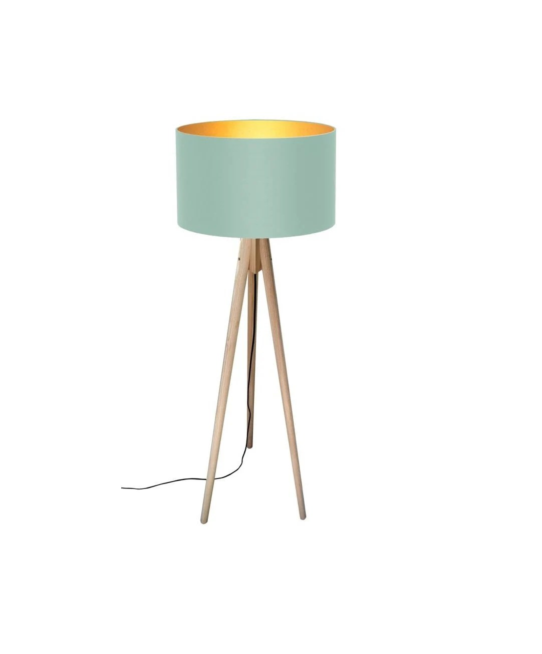 Lichthaus Worpswede Tripod Floor Lamp Pastel Meets Gold