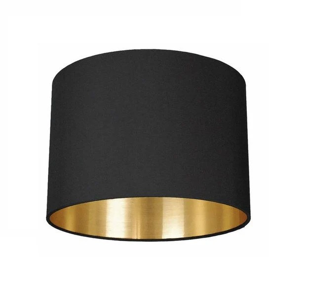 Lichthaus Worpswede Lampshade Black Meets Gold