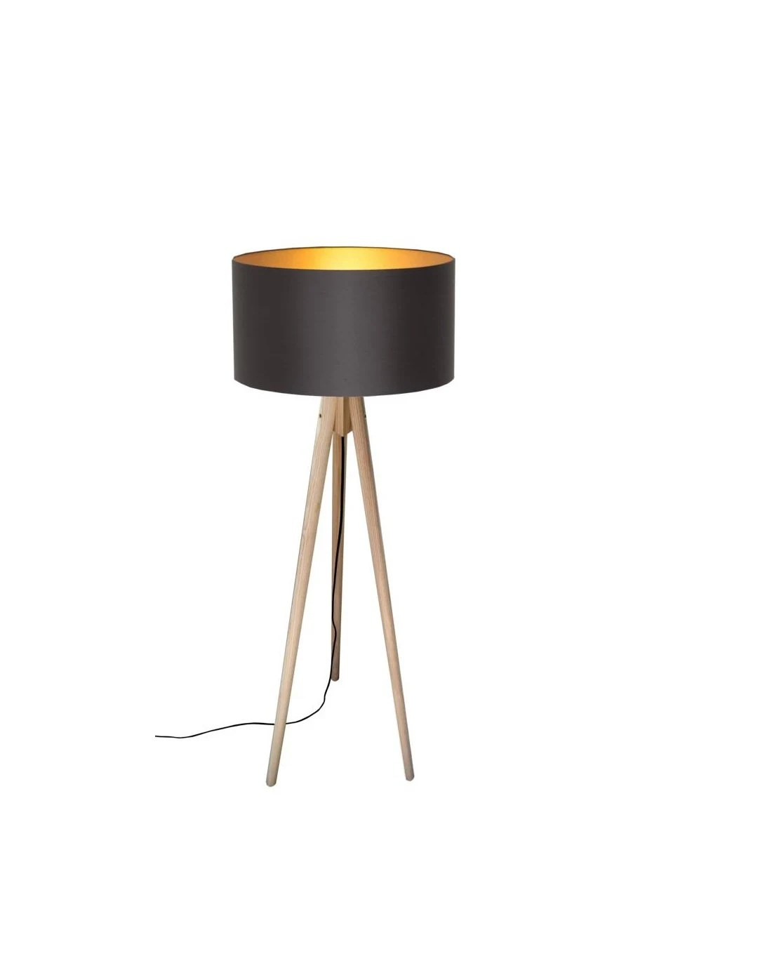 Lichthaus Worpswede Tripod Floor Lamp Black Meets Gold