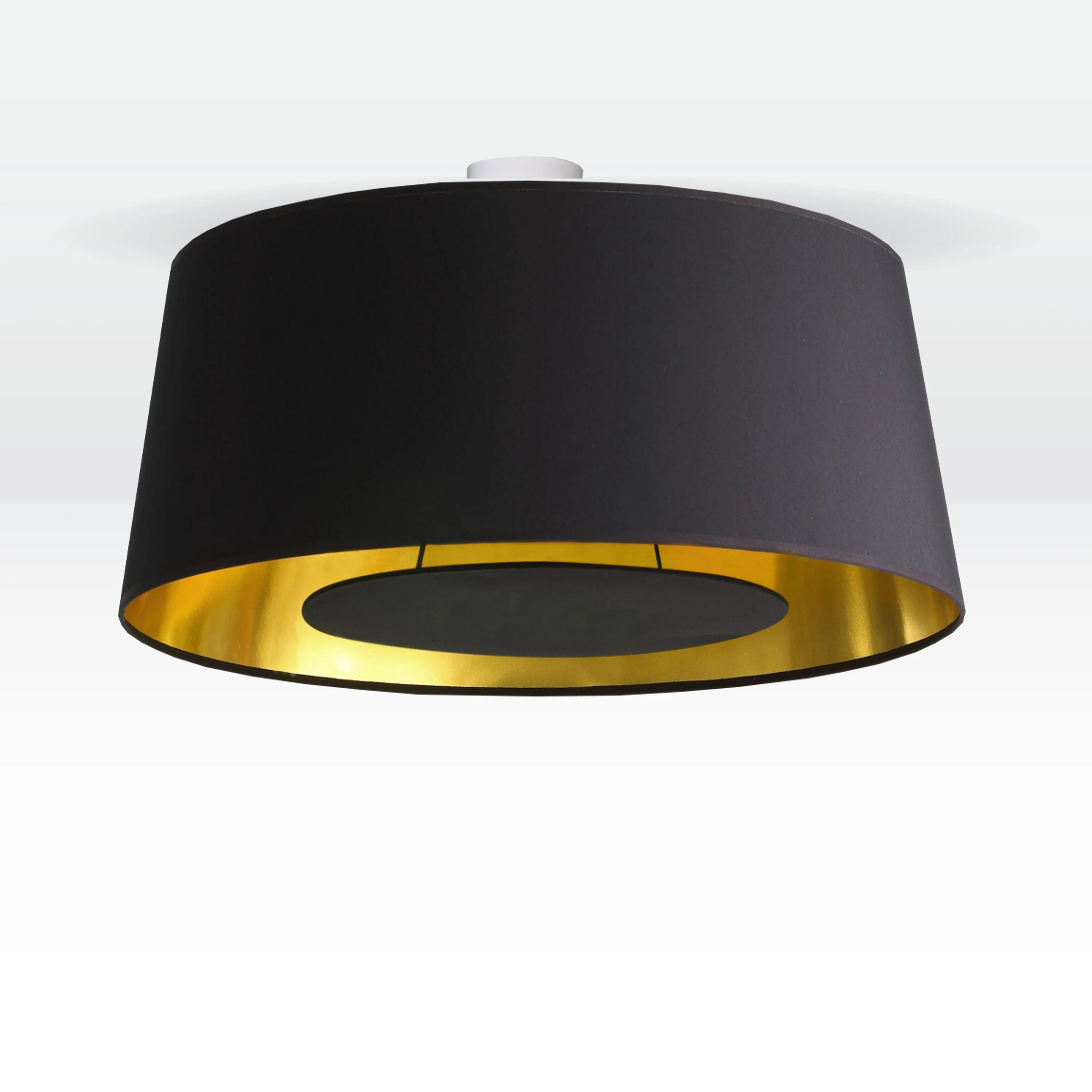Lichthaus Worpswede Ceiling Lamp 70 Cm Conical Gold Black