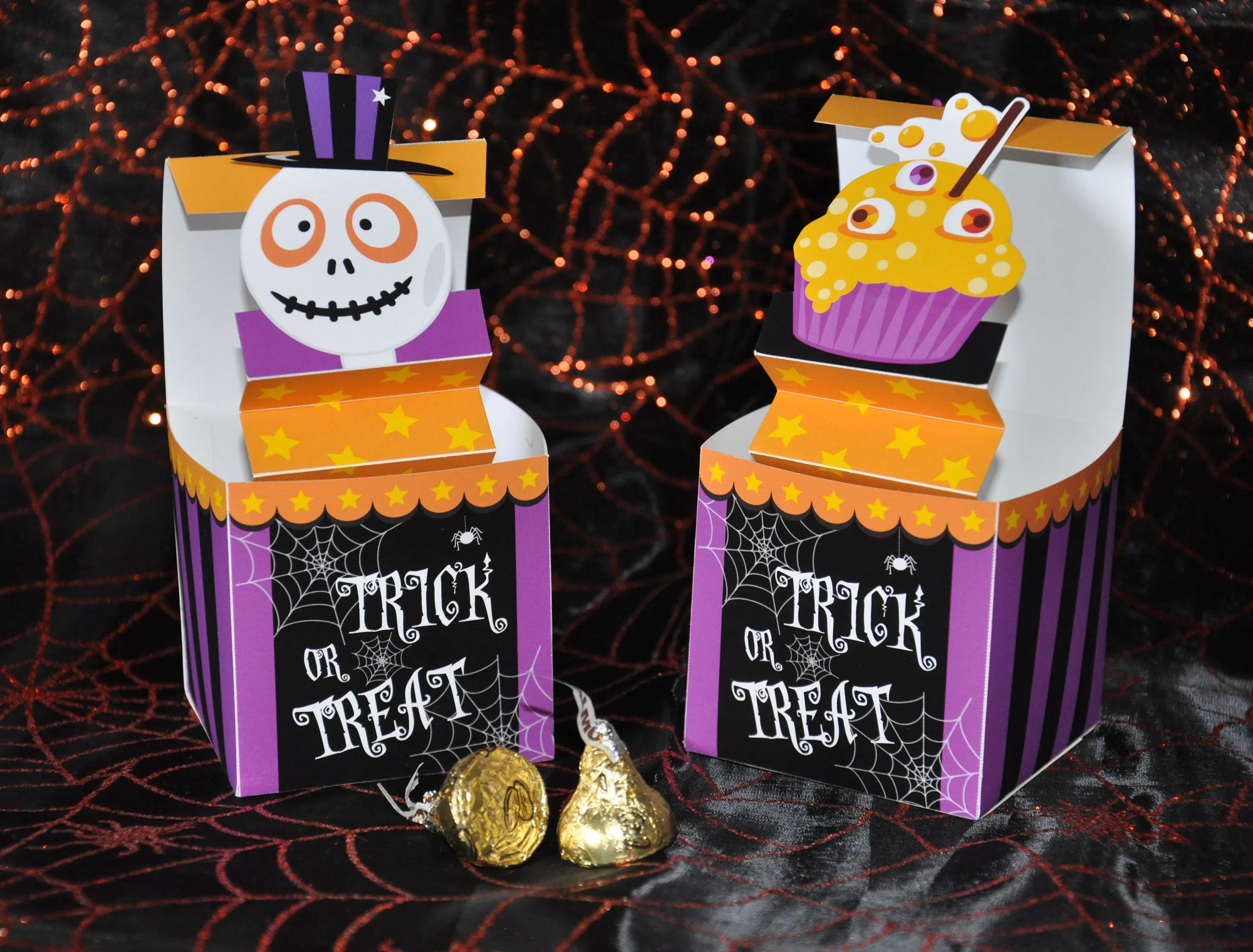 Halloween trick or treat pop up favor box pdf printable Etsy