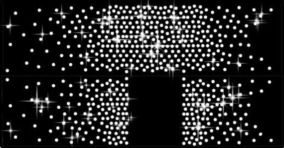 Digital Rhinestone Template Cheer Bow Templates SS10 3mm SVG Etsy