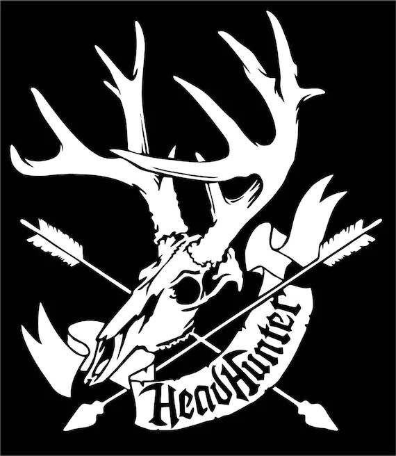 Hunting Headhunter Deer Skull Bow Arrow Car Truck Window Etsy