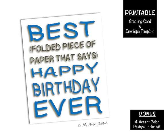 Best Day Ever PRINTABLE Birthday Card, Friend Cards, Funny Boyfriend