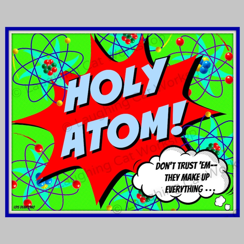 Science poster funny back to school decor physics art teacher Etsy
