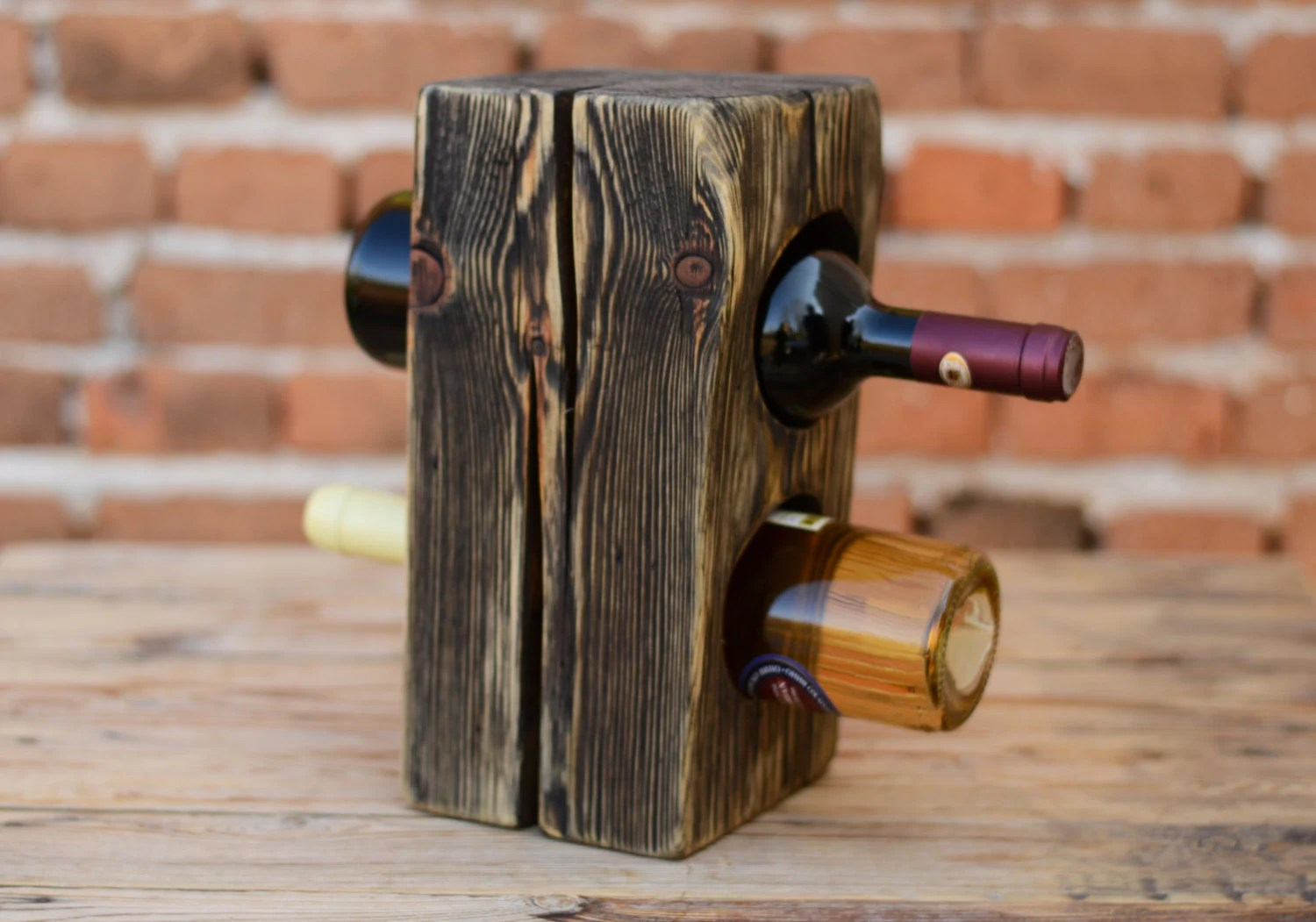 Wine Holder Stand Wine Rack Wooden Wine Stand Pine Wood Wine Rack Wine Bottle Holder Wine Storage Riddling Wine Rack Men Gift Wooden Wine Accessory