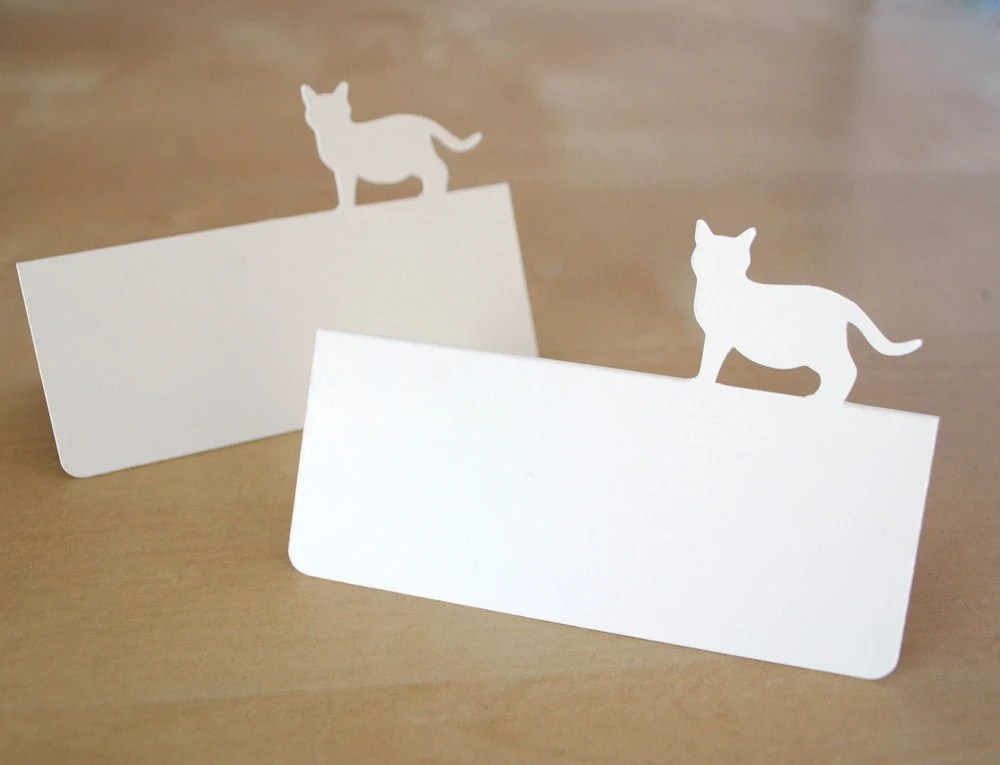 Kitty Cat Tent Style Place Cards Set of 24 Etsy