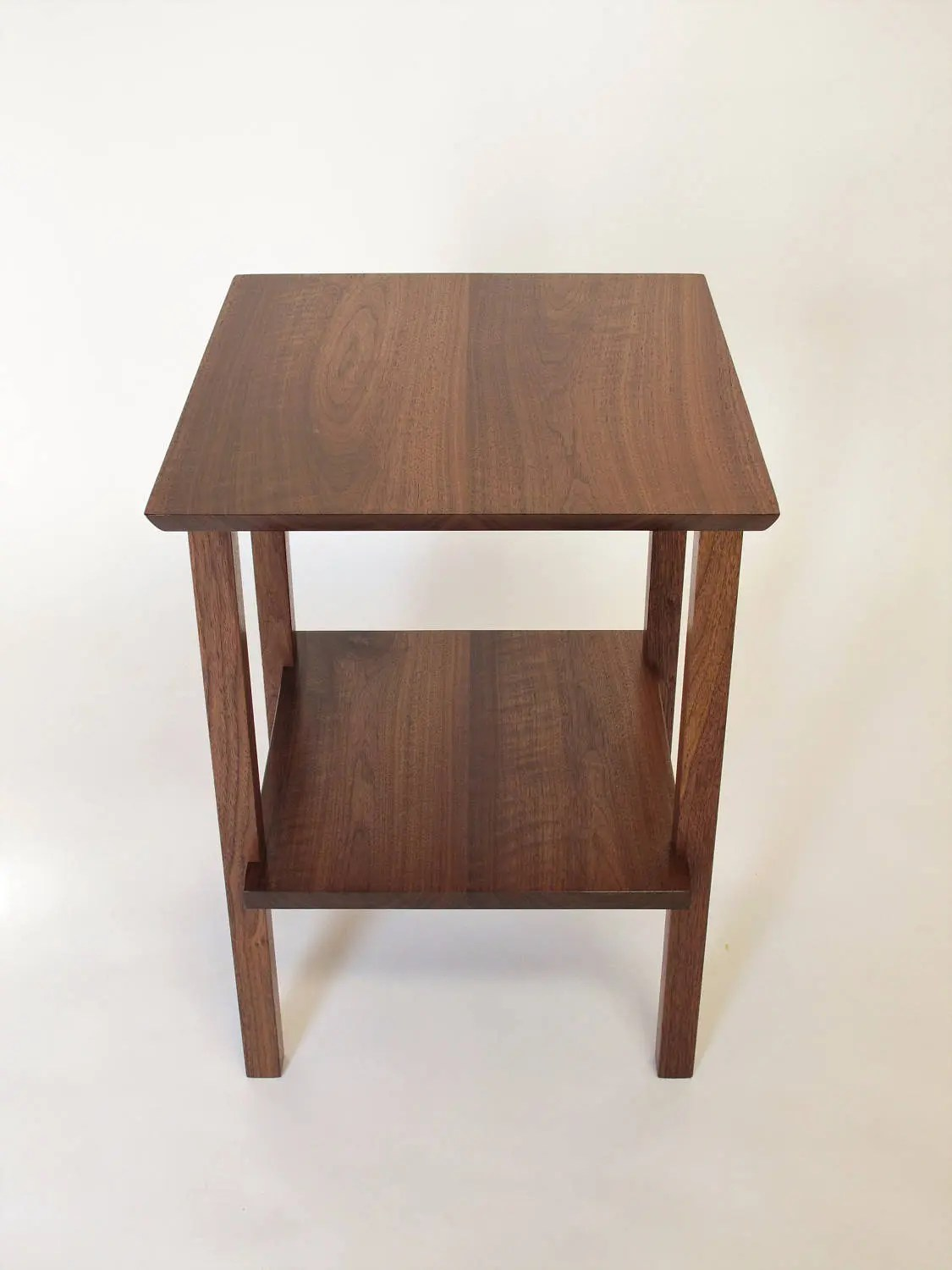 End Table For Living Room End Table With Shelf Small Solid Wood Table For Living Room Or Bed Side Table Square Shape Mid Century Modern Furniture Styling
