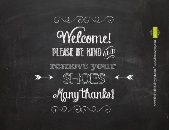 Please Remove Your Shoes 8x10 PRINTABLE Sign Welcome Etsy