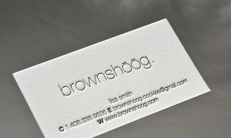 Letterpress Business Cards Crane Lettra Paper 220 lbs 1 Etsy