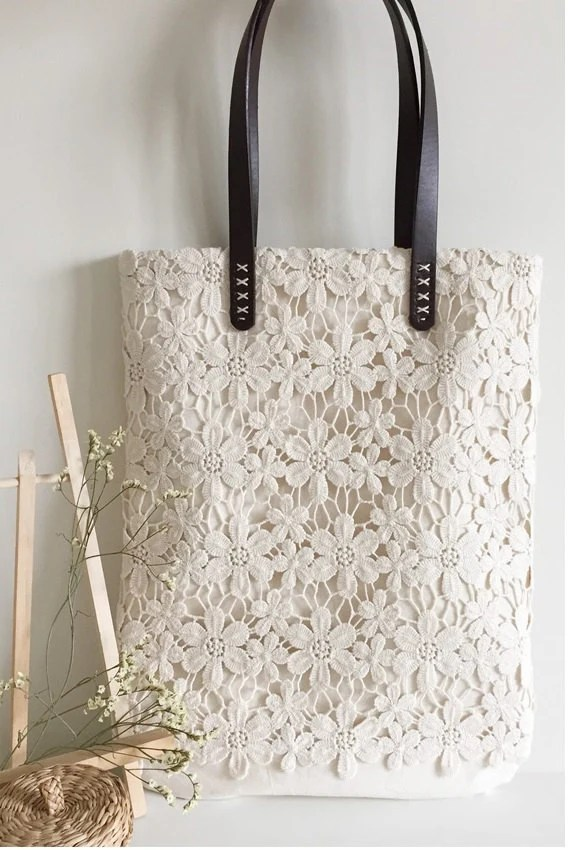 Shabby Chic Y Vintage Es Lo Mismo Handmade Shabby Chic Cotton Wedding Bag Lace Bag Lace Tote Vintage Style Ivory Off White Make To Order L004