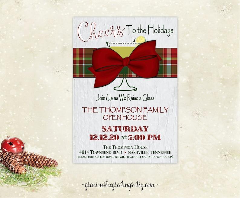 Christmas Open House Invitation Christmas Invite Holiday Etsy
