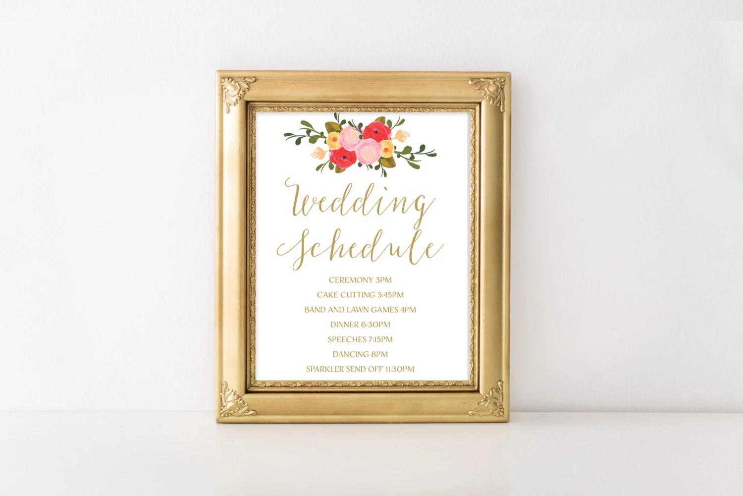 Wedding Schedule Design towelbars