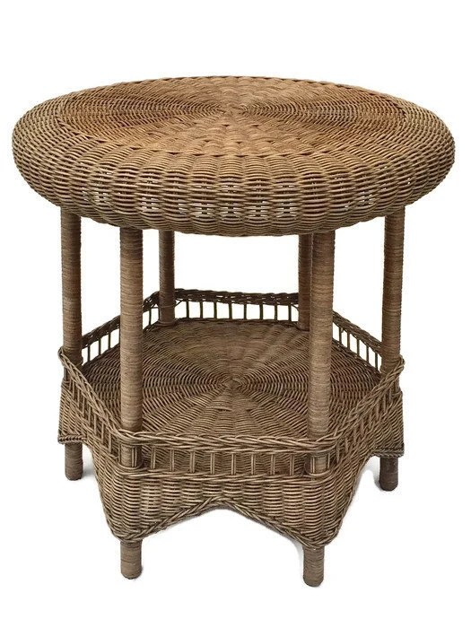 Rattan Table Vintage Rattan Table Tabouret Wicker End Table Moroccan Bohemian Decor Moorish Arch