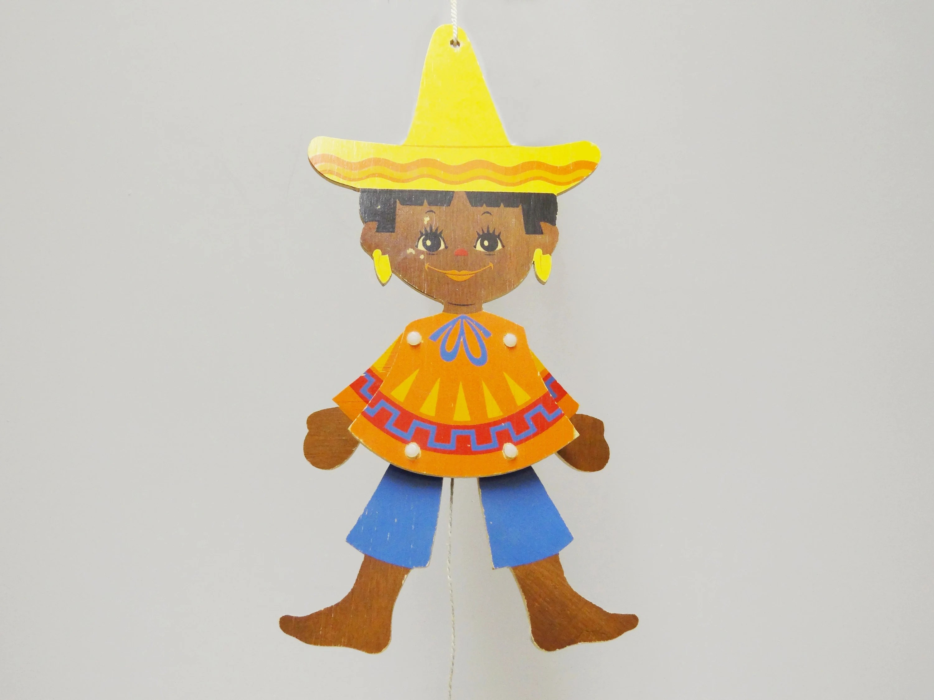 Wohnzimmeruhr Vintage Cute Wood Puppet Mexicans Boy 60s Vintage For The Nursery