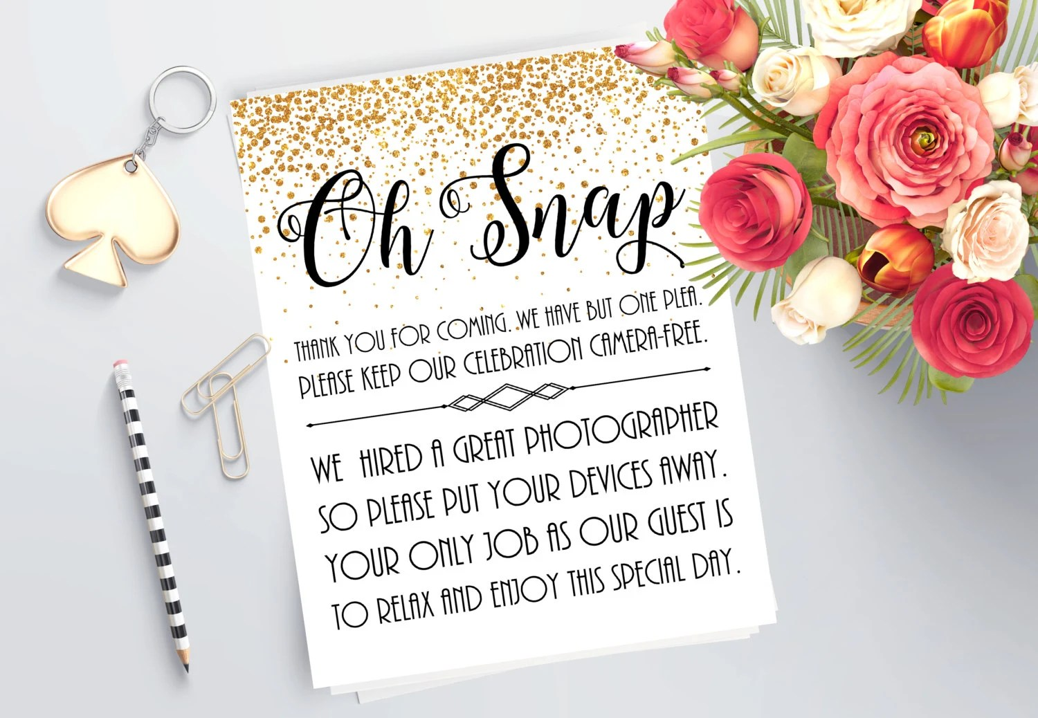Unplugged Wedding Sign Printable Sign No Cellphone Sign Etsy