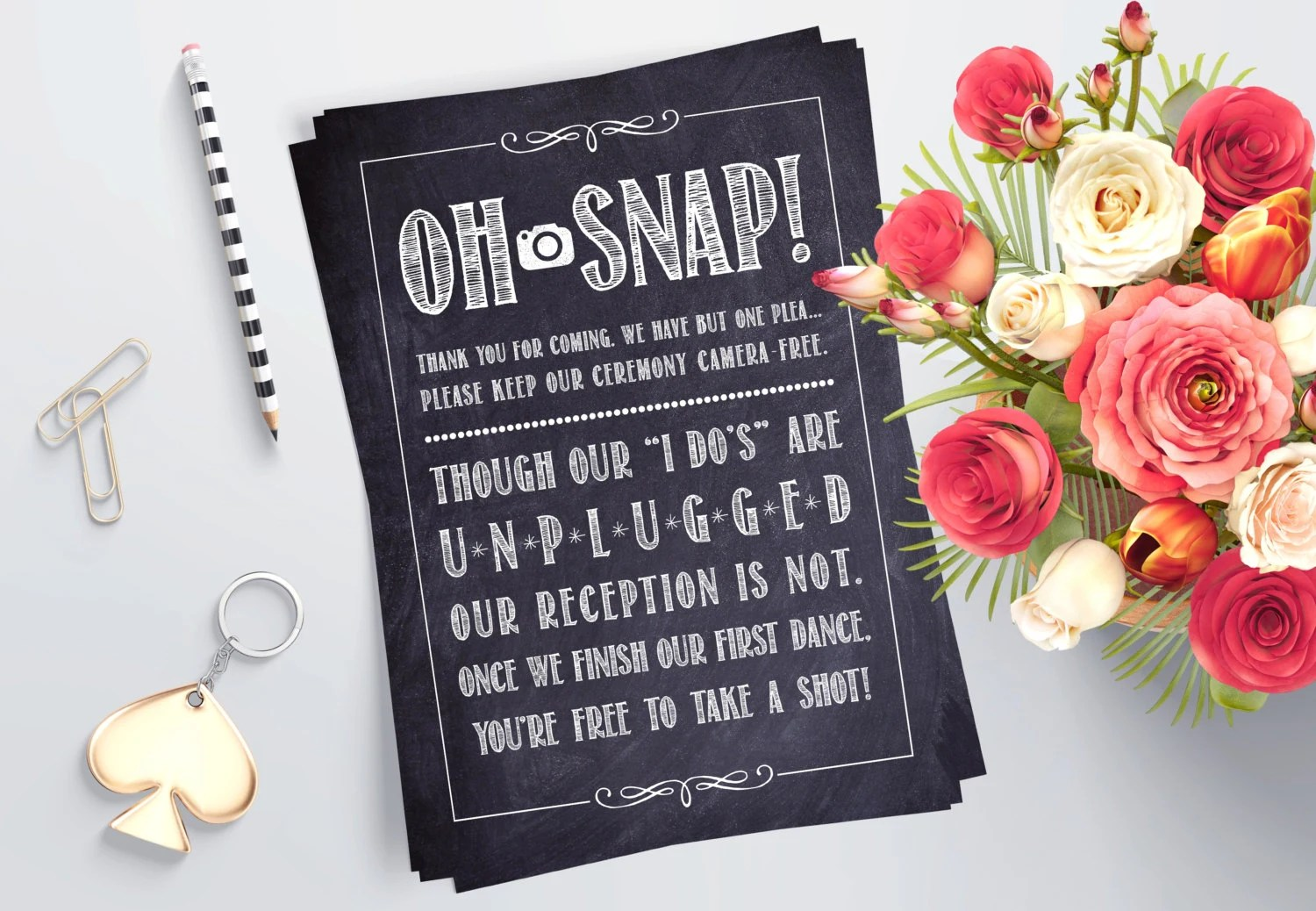 Printable Unplugged Wedding Sign Rustic Wedding Decoration Etsy