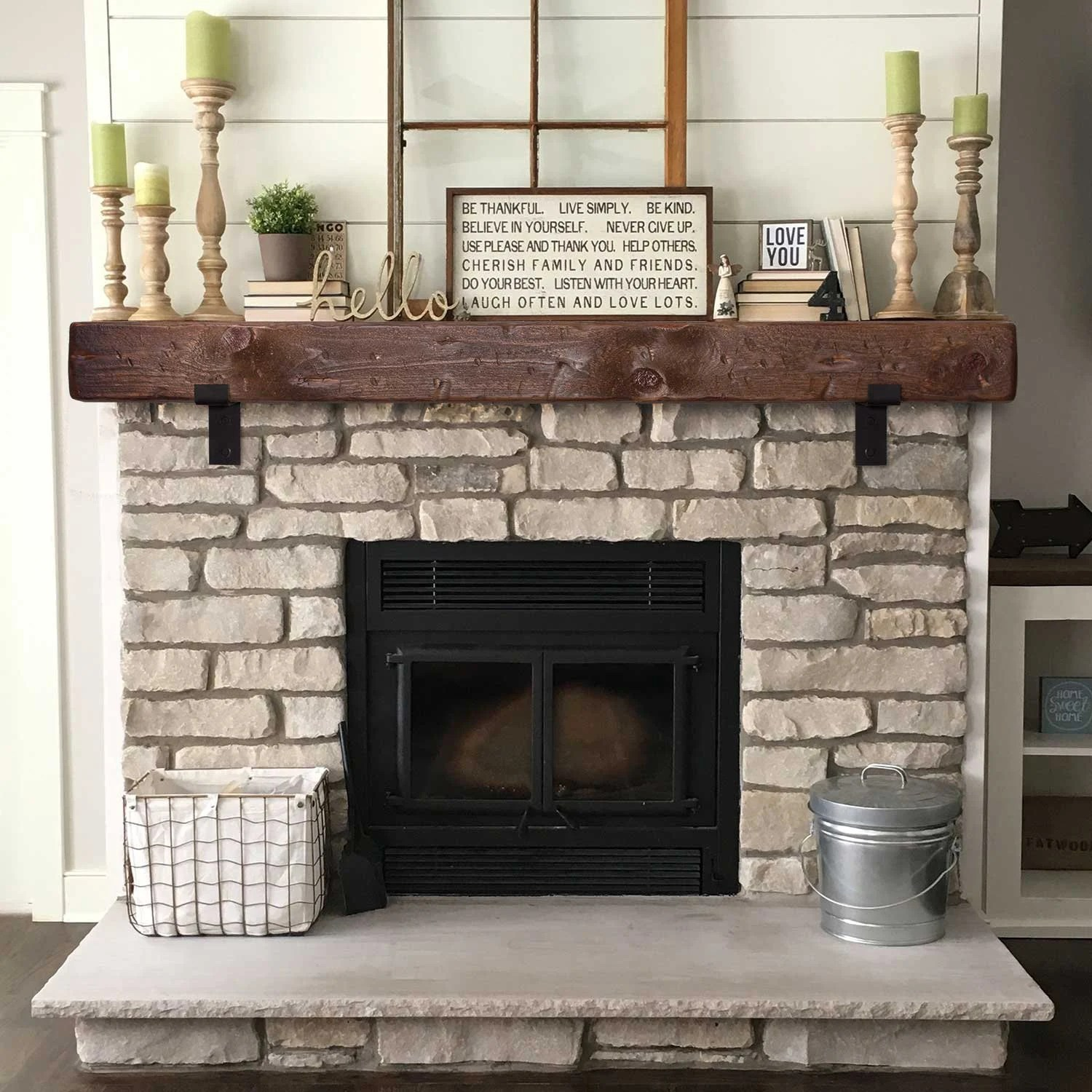 Faux Wood Beam Fireplace Mantels Uk Mantel With Metal Brackets Fireplace Mantel 5x6 6x6 Or 6x8 Mantle Rustic Mantle Floating Barn Wood Barn Beam Custom Lengths