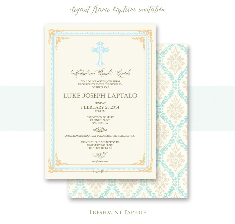 Baptism invitations baptism invitation christening Etsy