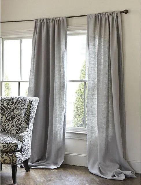 Bedroom Curtains Sale Sale 20 Off Gray Cotton Curtains Bedroom Curtains Livingroom Curtains