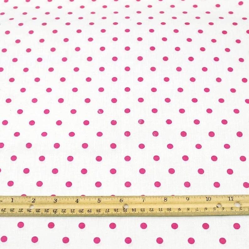 Mini Polka Dot Fabric Printed Woven Fabric White Background Etsy