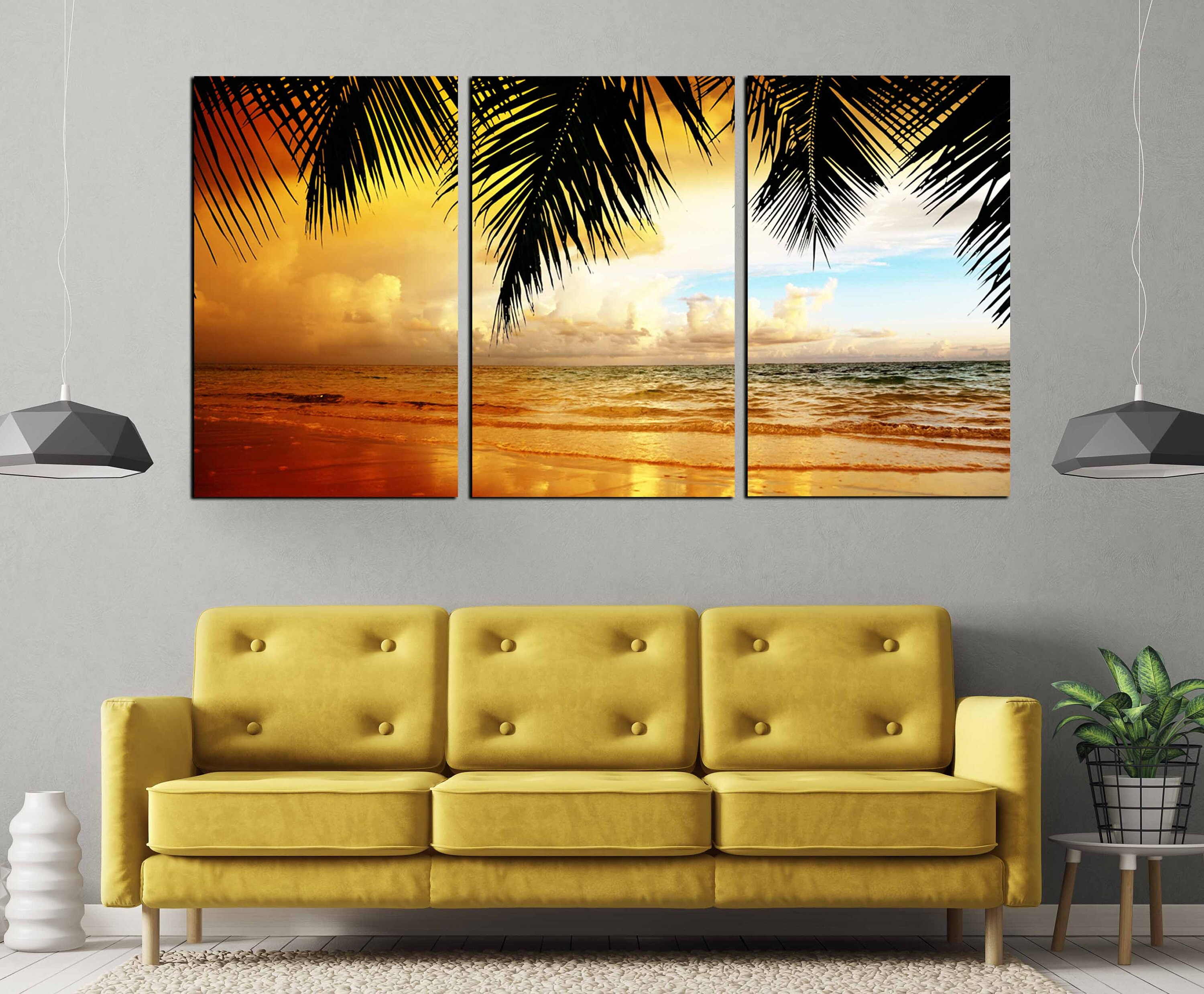 Large Canvas Prints For Living Room Sunset Wall Art Beach Canvas Print Beach Art Print Large