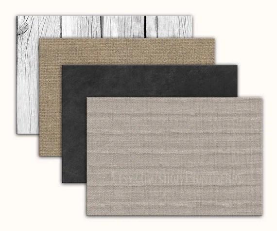 4x6 Envelopes Printable envelope template Burlap envelopes
