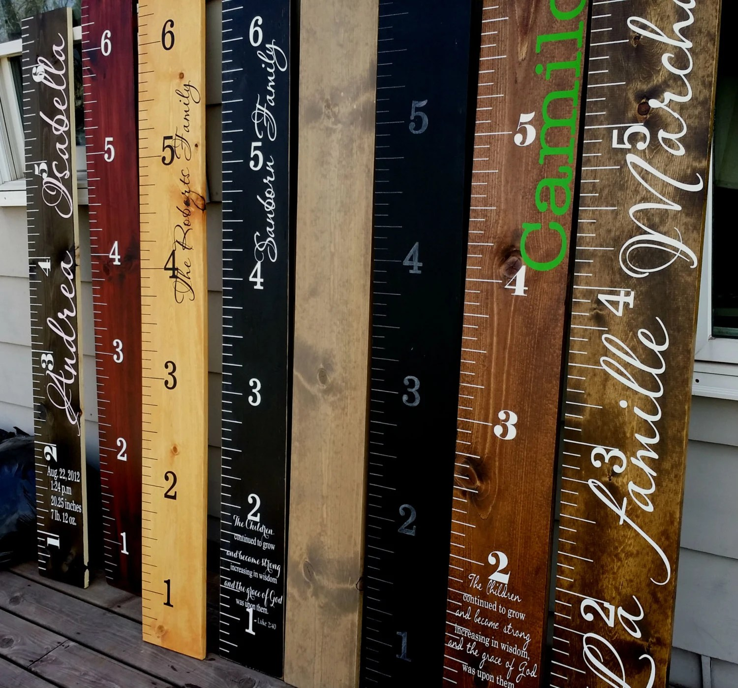 Wooden height chart Childrens Growth ChartGiant Wooden Growth Etsy