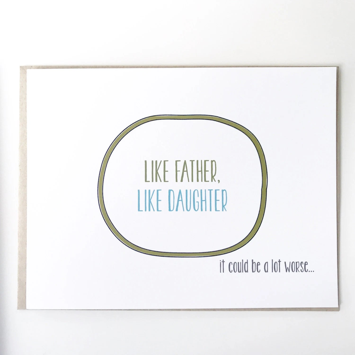 Funny Father\u0027s Day Card Like Father Like Daughter It Etsy