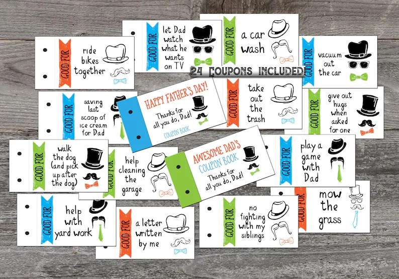 Coupon Book for Dad Love coupons Father\u0027s Day gift from Etsy