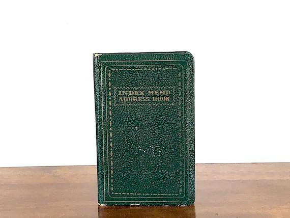 Vintage Address Book Memo Book Unused Notebook Small Etsy