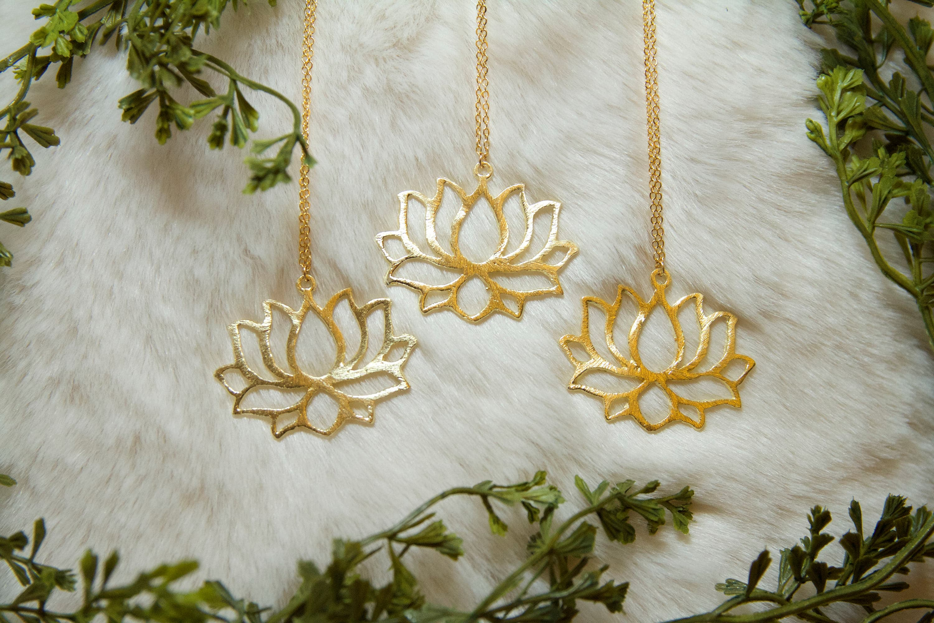 Lotus Brielle Lotus Flower Necklace Gold Lotus Lotus Necklace