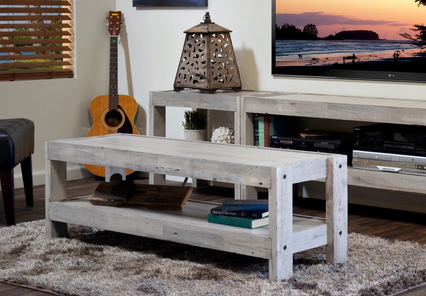 Rustic Beach Coffee Table Rustic Gray Beach House Coffee Table Reclaimed Wood Etsy
