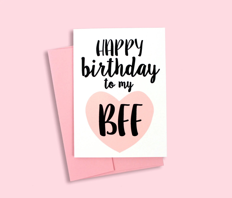 Happy Birthday to my BFF Card Greeting Card Best Friend Etsy