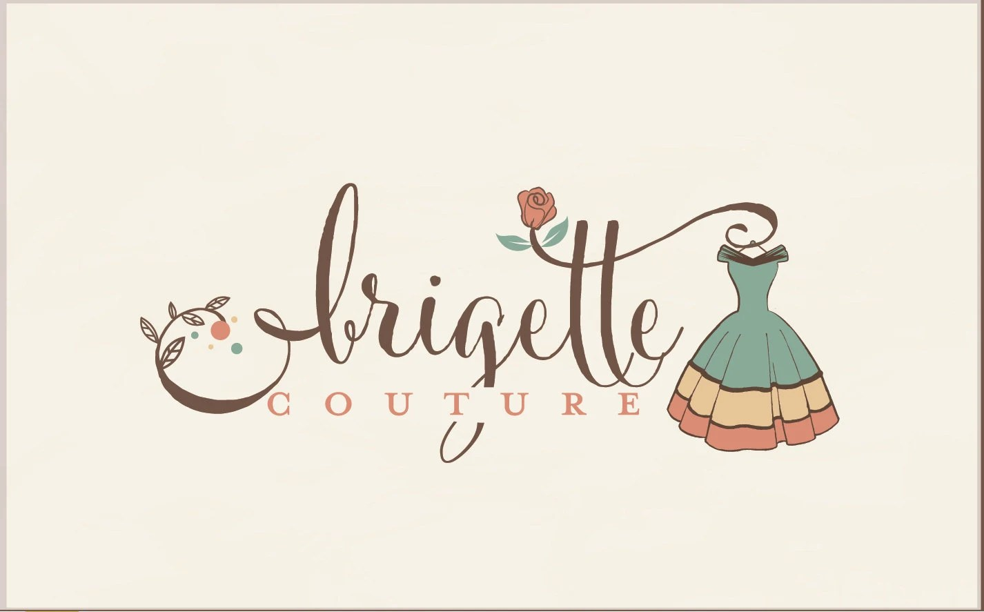 Fashion logo design vintage logo Boutique logo ruistic Etsy