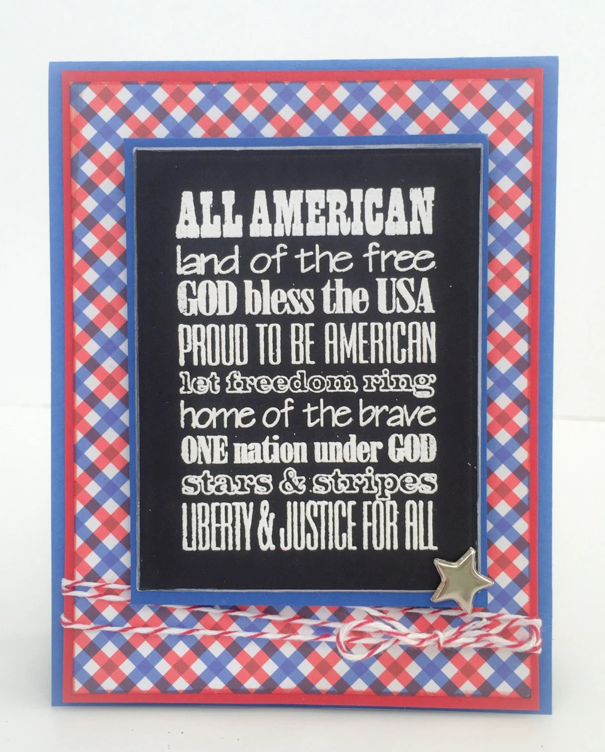July 4th Handmade Card, Independence Day Card, Patriotic Birthday