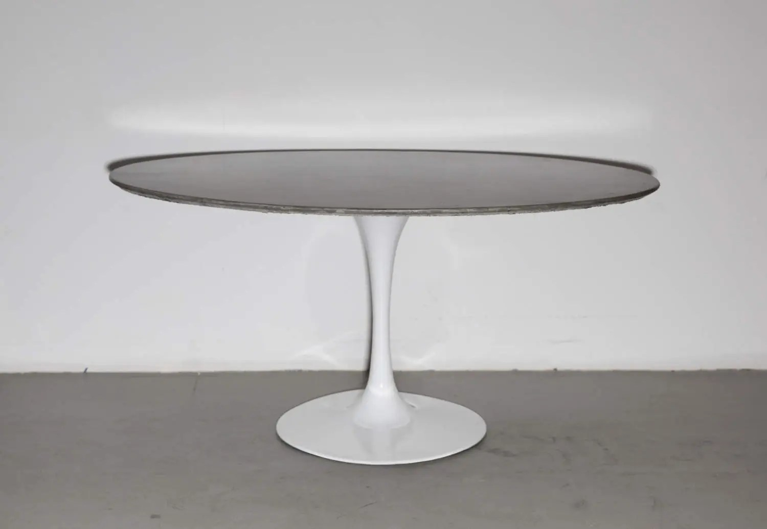 Saarinen Knoll Table Concrete Table Mid Century Dining Table Oval Table For 6 Tulip Base Contemporary Mid Century Modern Minimalist Furniture Saarinen Knoll Like