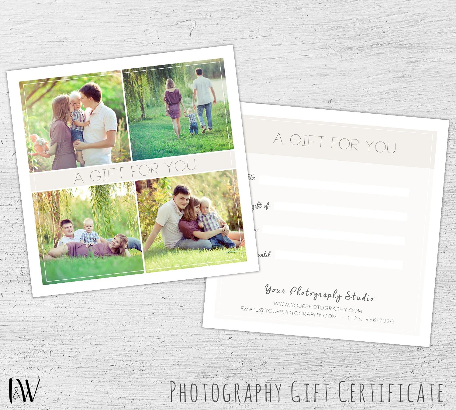 Gift Card Template Easter Photography Gift Certificate Etsy