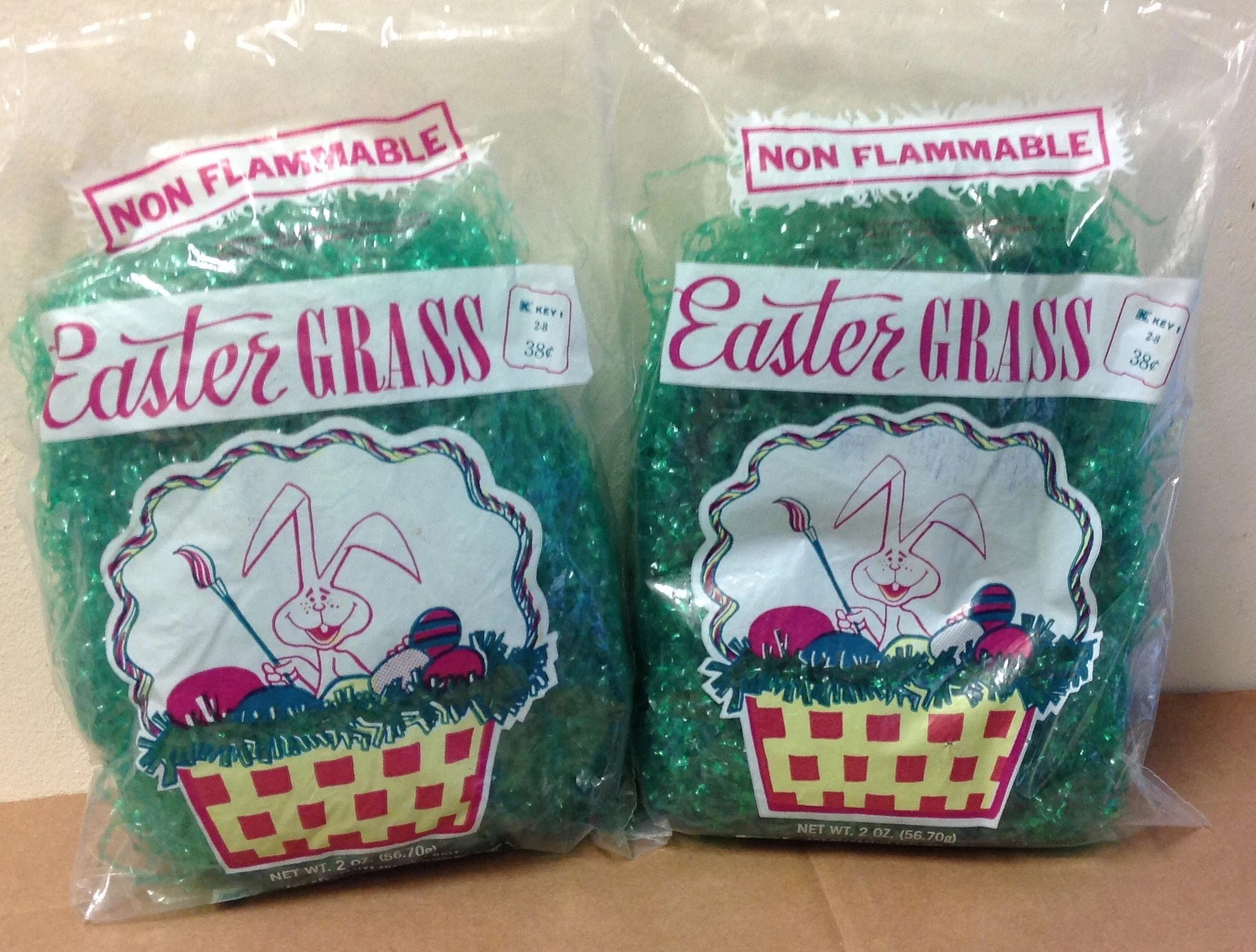 Candle Making Kit Kmart Easter Grass Vintage 1980 S Bags Sealed Green Usa Made For Kmart Basket Holiday Supplies Rabbit Eggs Graphics Retro Two 2 Oz Bag Lot Sealed