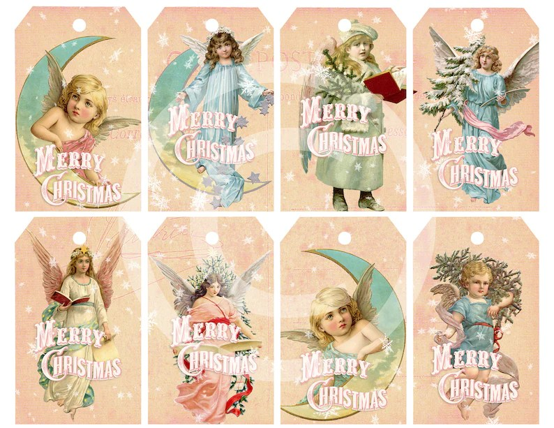 Religious Christmas Printable Gift Tags Shabby Chic Pink Etsy