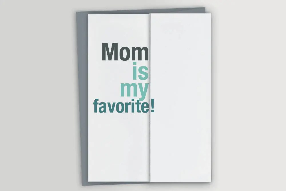 Funny Father\u0027s Day Card for Dad - Mom is my favorite - Sarcastic Father\u0027s  Day Card - Card from Daughter - Card from Son - Birthday