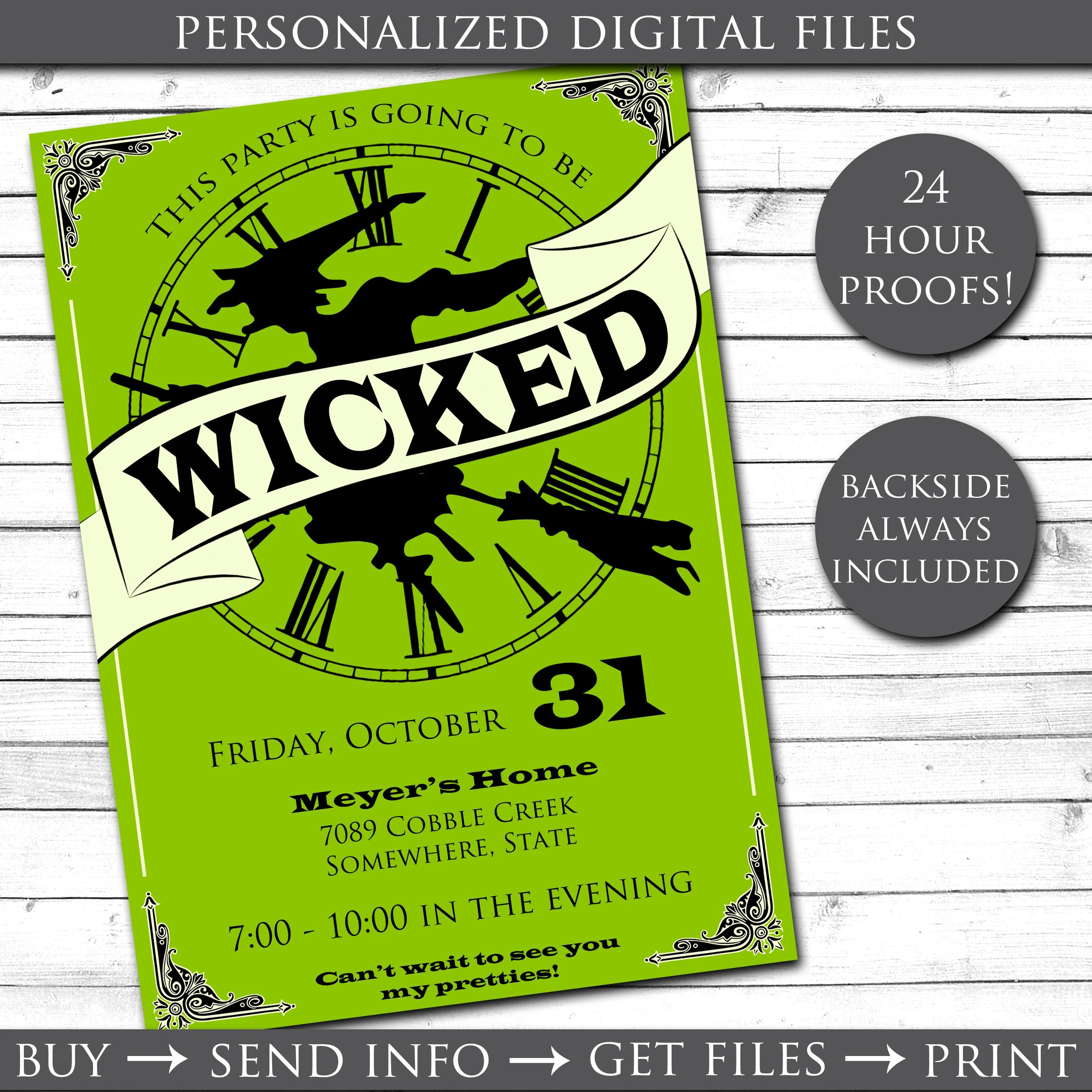 graphic about Free Halloween Invites Printable named Wicked Halloween Invitation Halloween Social gathering Invites
