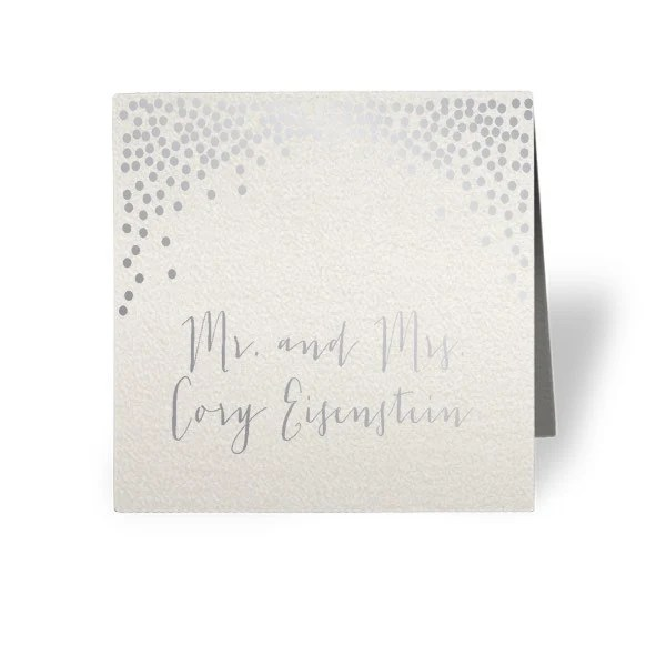3x3 square Wedding Event tent foldover Place Cards Etsy