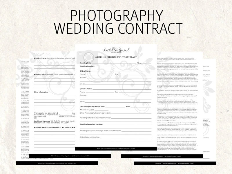 Wedding photography contract wedding contract photography Etsy
