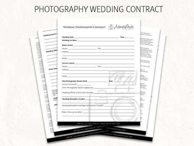 Photography wedding contract - wedding contract - photography