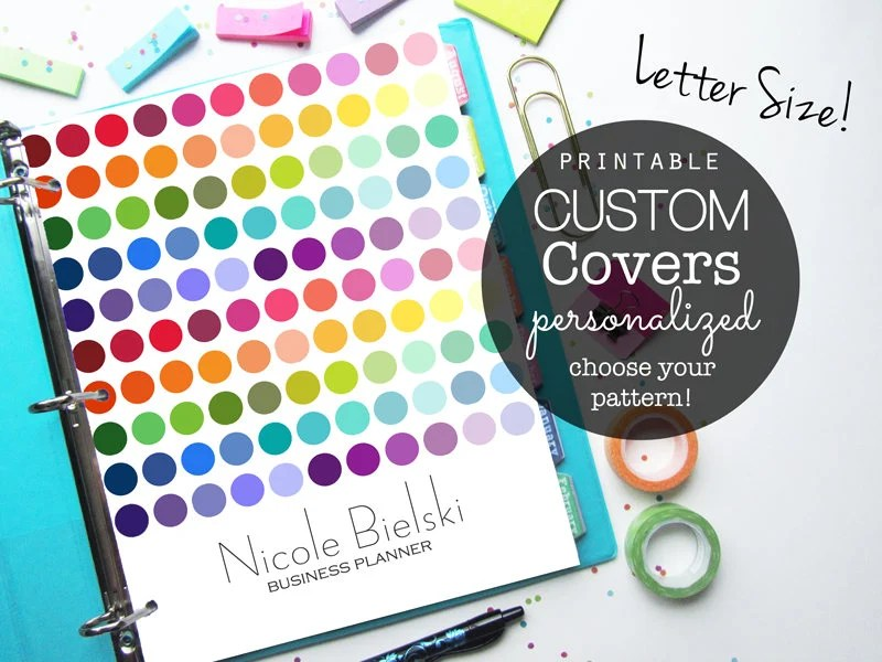 Planner Cover Binder Cover Printable Cover Printable Etsy