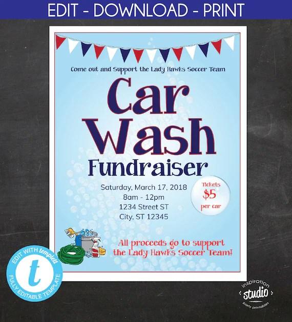 Car Wash Fundraiser Flyer, School Flyer, Church Flyer, Sport Flyer