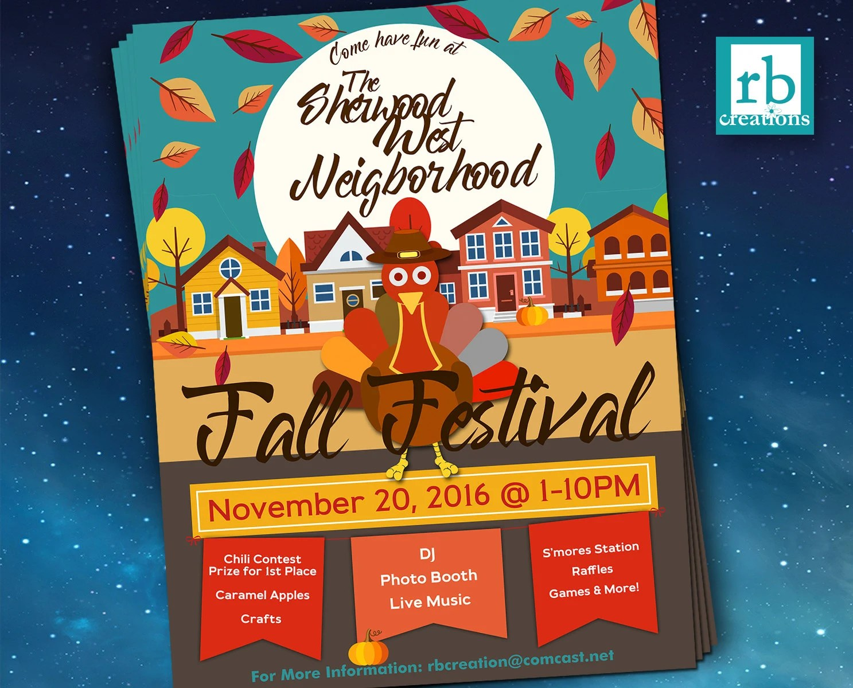 Block Party Flyer Fall Festival Fall Flyer Autumn flyer - fall flyer