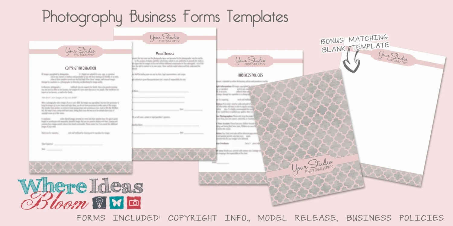 Photography Business Forms Templates 3 Patterns to Choose - business forms templates